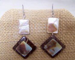 Coconut Shell Earrings by KaySahai Designs
