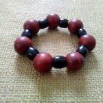 Rust and Black Wooden Bracelet