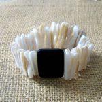 Cream Stick Pen Shell Bracelet