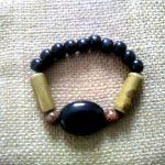 Black and Mustard Bracelet