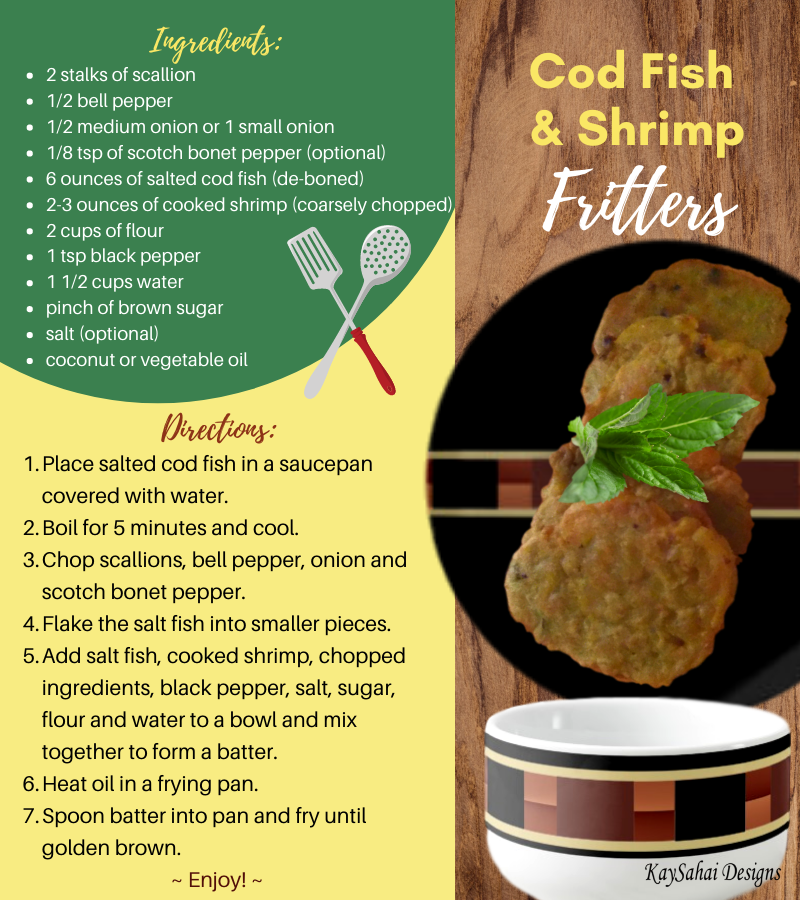 cod fish and shrimp fritters