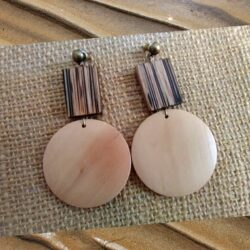 Maple Wooden Earrings by KaySahai Designs